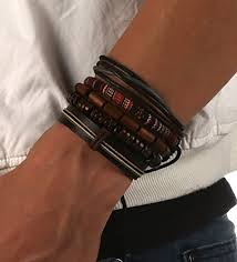 leather wrap bracelet women images Hzman mix 4 wrap bracelets men women shop a nu jpg