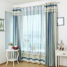 lively blue room darkening striped curtains for bedroom with