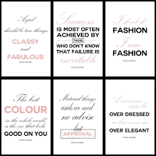 digital set of 12 striped coco chanel quotes centerpiece