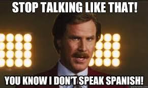 Meme Speak - stop talking like that you know i don t speak spanish