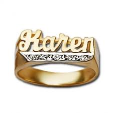 name ring 14k gold name rings personalized gold initial rings