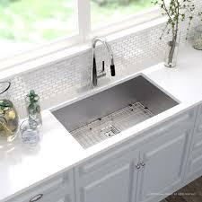 38 Inch Kitchen Sink Kraus Pax Zero Radius 31 1 2 Inch Handmade Undermount Single Bowl