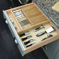 kitchen cabinet knife drawer organizers a wood knife block by rev a shelf this in drawer knife block has 19