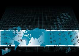 world map stock image black background with a financial theme and world map stock