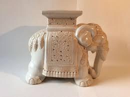 Elephant Side Table Large Porcelain Elephant Side Table Planter Design Catawiki