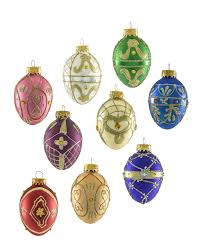 christmas ornament sets artisan s glass egg unique christmas ornament set treetopia