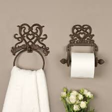 period heart design cast iron wall toilet tissue roll holder