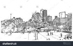 sketch sydney australia vector illustration stock vector 726769960