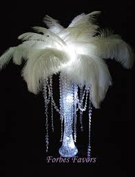ostrich feather centerpiece large ostrich feather centerpiece with garland top