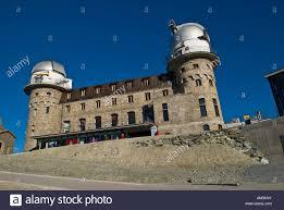 observatory and hotel on gornergrat zermatt switzerland stock