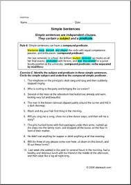 grammar simple sentences elem upper elem worksheets i abcteach