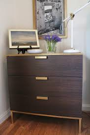 the nightstand is a mini ikea hack of the trysil dresser the trim