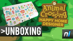 animal crossing happy home designer new nintendo 3ds xl unboxing