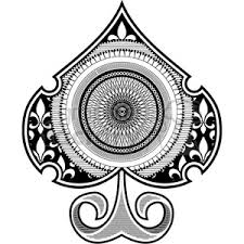 royalty free spade spirograph tattoo design vector illustration