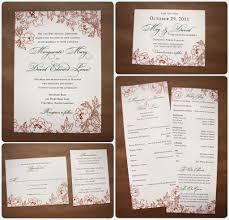 Wedding Invitation Information Card Persimmon And Green Fall Floral Wedding Stationery Emdotzee Designs