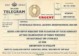 telegram wedding invitation wedding stationery collection on ebay