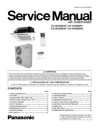 panasonic cs w50bb4p cu v50bbp8 cu w50bbp8 service manual repair