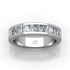 channel set wedding band 14kt white gold princess cut channel set wedding band union diamond