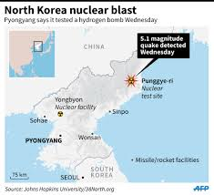 Nuclear Bomb Map North Korea Claims Successful H Bomb Nuclear Test