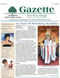gazette december 2017 travels the world during the holidays