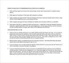 sample used car bill of sale 8 documents in pdf