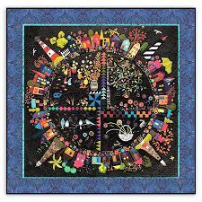 new round the garden customized quilt kit linen u0026 wool felt