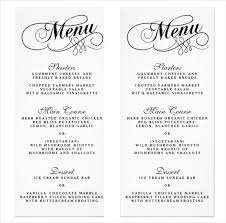 wedding menu template printable wedding menu template kraft menu