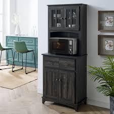 black kitchen pantry cupboard wayfair black food pantries cabinets you ll in 2021