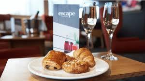 menu cuisine az escape lounge stansted airport