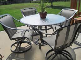Rod Iron Home Decor Furniture Black Wrought Iron Patio Furniture With 4 Swivel Patio