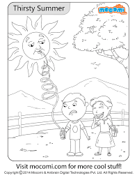 thirsty summer colouring page jojo colouring pages for kids mocomi