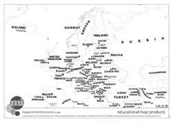 map of europe with country names and capitals zone loads of free maps