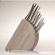 set couteau de cuisine bloc à couteaux 8 pièces concavo achat vente couteau de