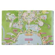 Epcot World Showcase Map Epcot Map Disney Door Mat Rainbow Rules