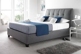 Grey Upholstered Ottoman Bed Grey Fabric Ottoman Bed Serenity Upholstered Ottoman