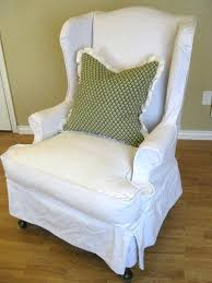 slipcover for chair the beautiful slipcovers for chairs awesome skirted white wing back