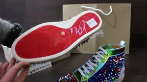 christian louboutin colorful spike and suede men flat sneakers