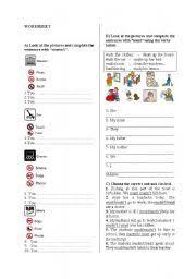 english teaching worksheets must mustn t