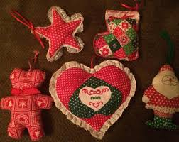 stuffed ornaments etsy