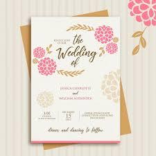 beautiful wedding card design vector premium