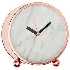 Home Decor Clocks Lisa T Marble Effect Desk Clock Target Rose And Gold