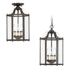 Sea Gull Lighting Fixtures Sea Gull Lighting 5231 782 Heirloom Bronze Bretton 3 Light Lantern