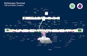 Airport Terminal Floor Plan by Mcnamara Terminal
