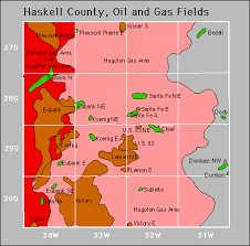haskell map haskell county and gas production