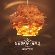 Wood Veneer Pendant Light Style Wooden Veneer Pendant Light Wood L Bird S Nest
