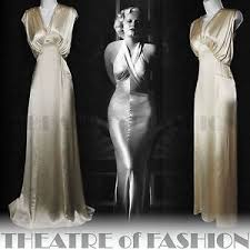 Vintage Wedding Dresses Uk Vintage Wedding Dress Silk Uk 6 8 10 30s Ballgown Satin 20s