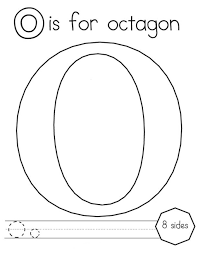 o coloring pictures octagon alphabet coloring pages kids