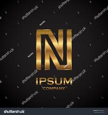 letter n metallic texture3d glossy metal stock vector 586864370