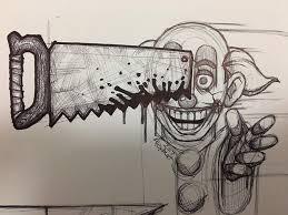 creepy clown sketch horror amino