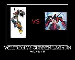 Gurren Lagann Memes - voltron vs gurren lagann by ultimo855 on deviantart